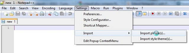 Notepad Plus Plus Import Plugin