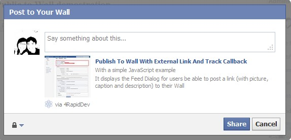 Facebook Publish To Wall FB UI Feed Method