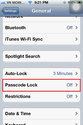 iPhone 4s Passcode Lock Off